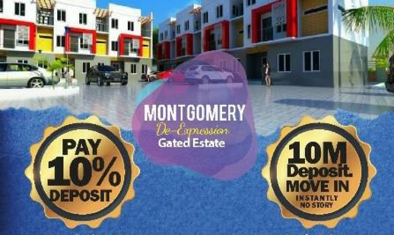 Become a Proud Owner of a 4 Bedroom Triplex at Montgomery Terraces Sangotedo – Ajah, Lekki